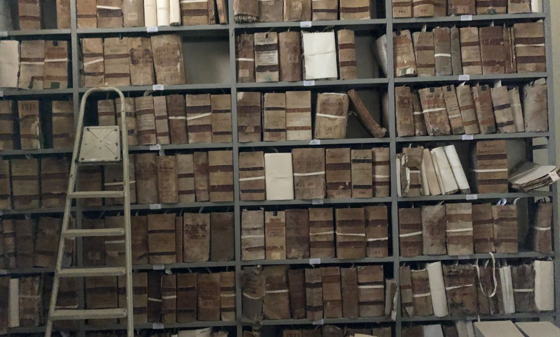 One of the many Italian archives where Lerner spent hours reading 19th century manuscripts.