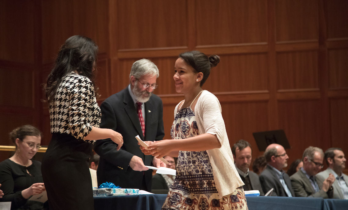 Flores received this year's Stanley Craig Memorial Award, presented to a member or members of the student body judged by a faculty committee to have demonstrated the highest qualities of personality, character and involvement.