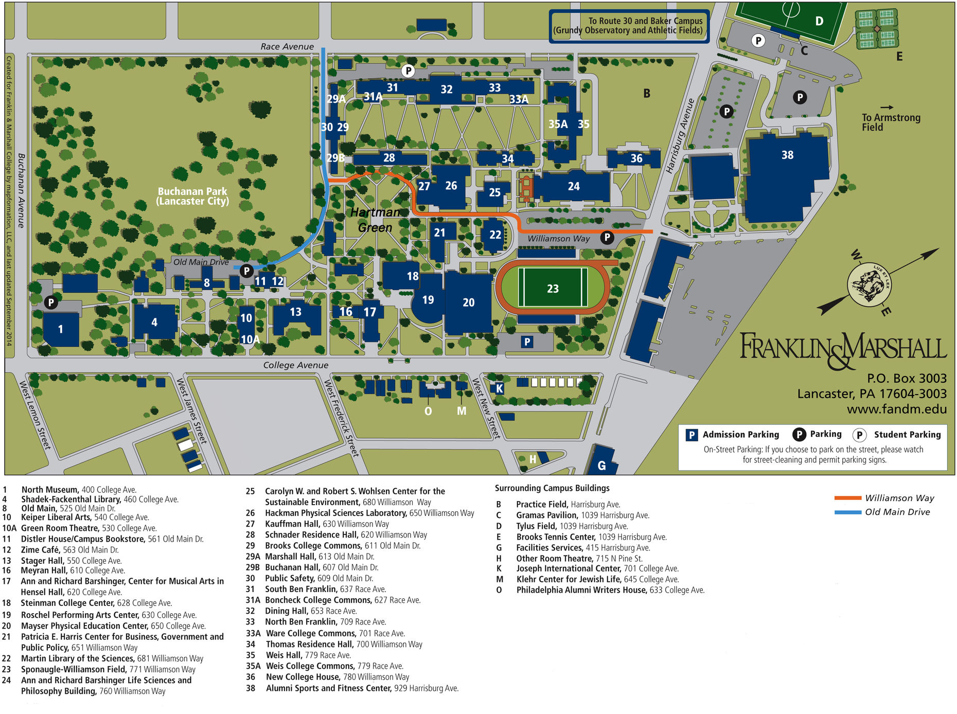 View Print A Campus Map
