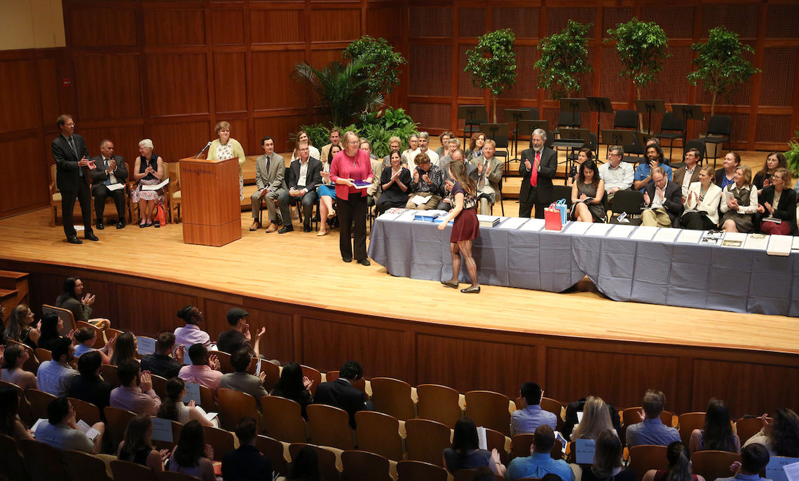At the ceremony, 134 awards were presented to 200 students.