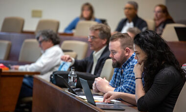 In March, F&M faculty members attended a seminar on transitioning their curricula online.