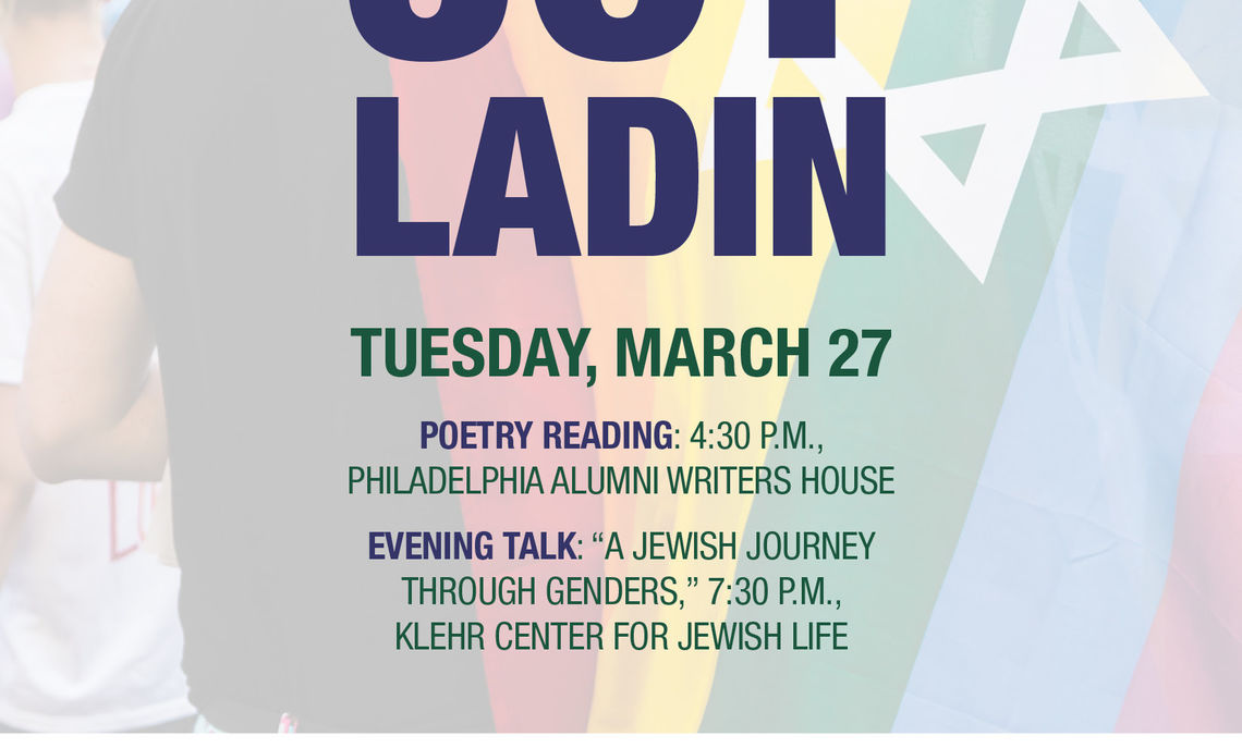 Poster of Joy Ladin reading/lecture