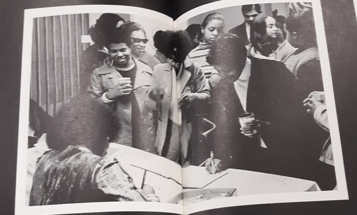 Pictures from the 1973 yearbook showing Black women and their lives on the campus