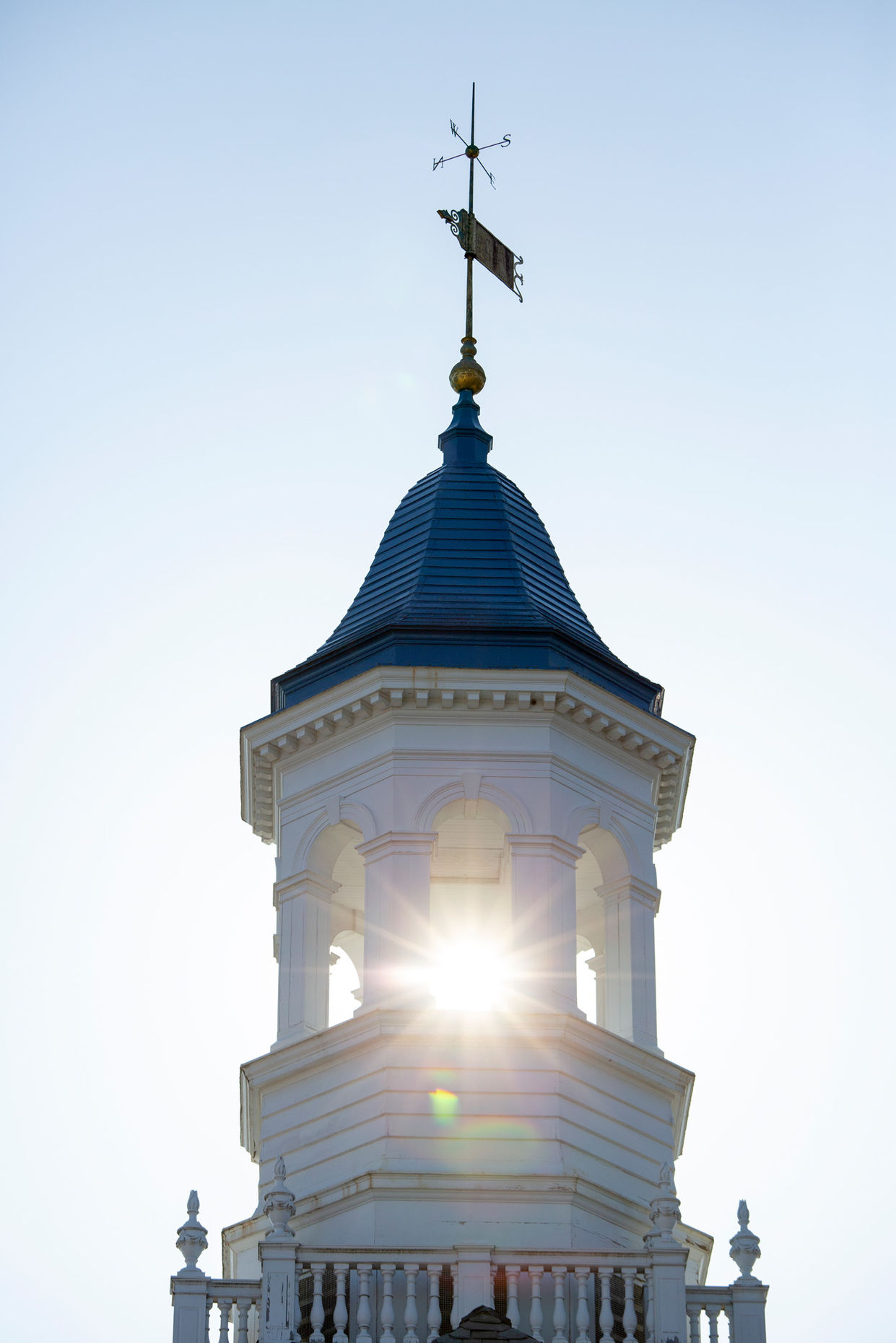 Sun shining through the Barshinger Cupola