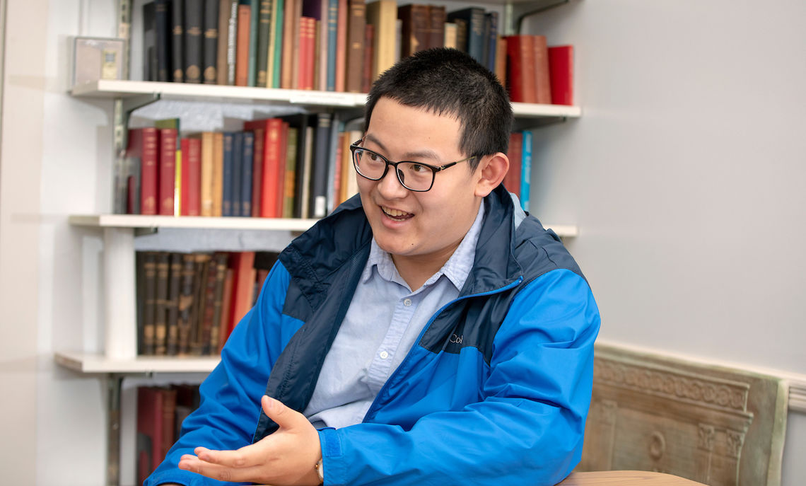 Zhang pursued an interest in Buddhism and Sanskrit, prominent subjects in his Manchurian home, but at F&M, the first-year student found his passion in the Classics.