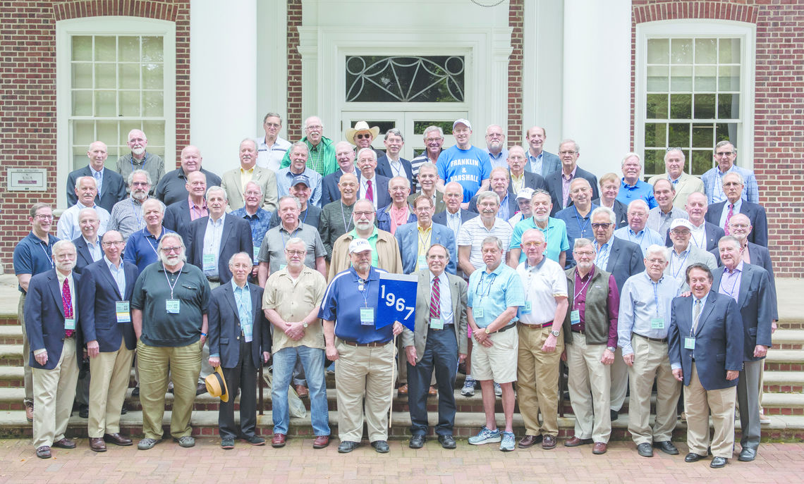 Photo of the Class of 1967 at Alumni Weekend 2017
