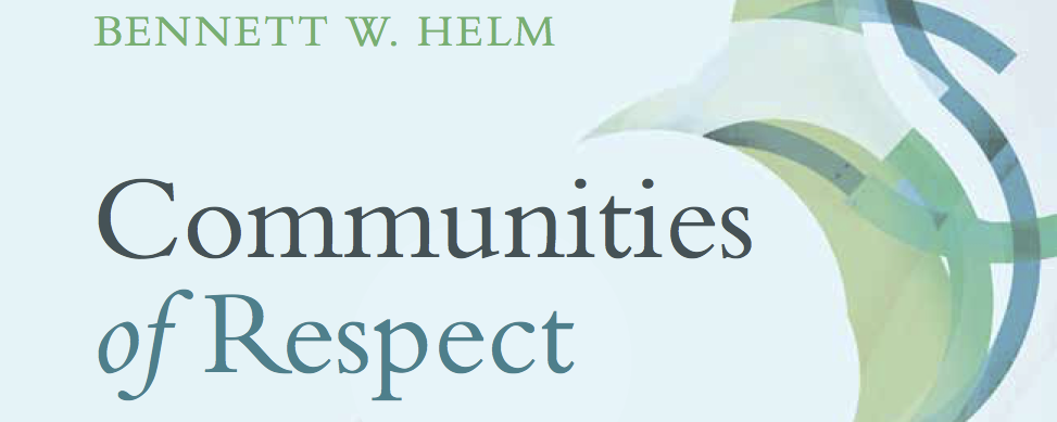 Cover for Helm, Communities of Respect