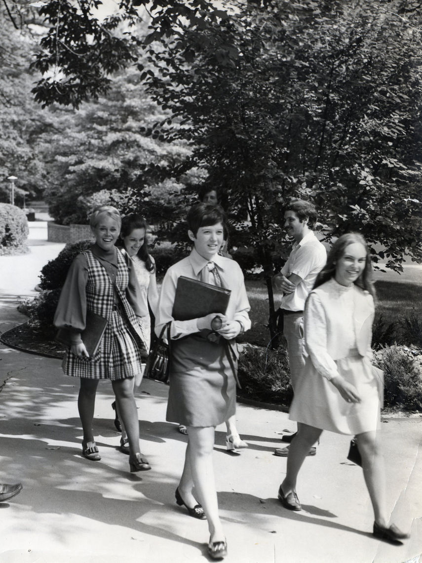 When the first female students arrived on campus in the autumn of 1969, photographers, official and otherwise, attempted to capture the spirit of the new look at F&M.