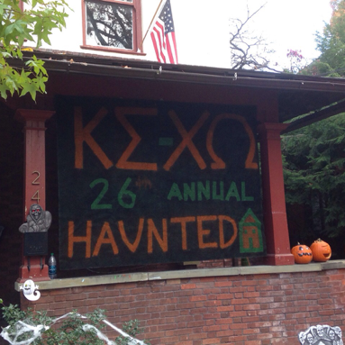 The Delta-Rho Chapter celebrated its 26th annual haunted house with over 300 children in attendance, including Franklin and Marshall's Dean of the College, Margarett Hazlett.