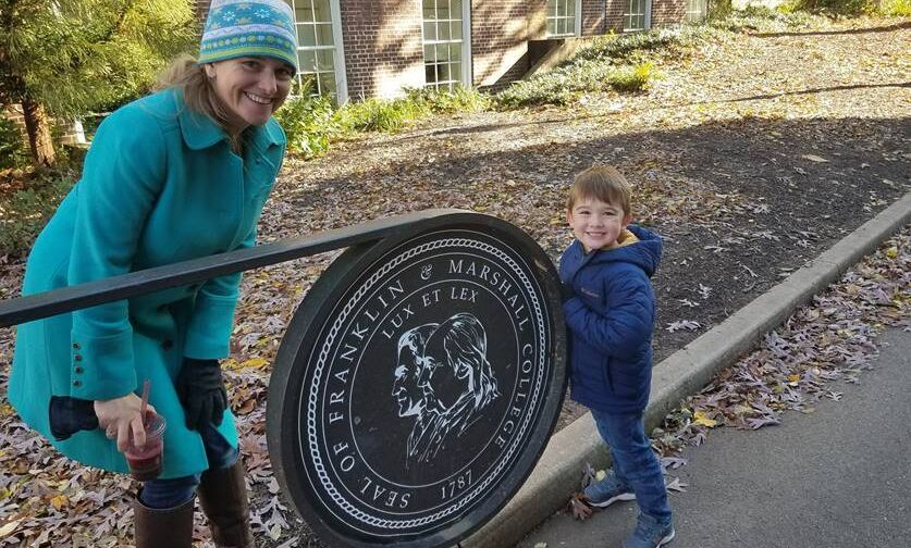 Liz Watson '98 and her son at F&M