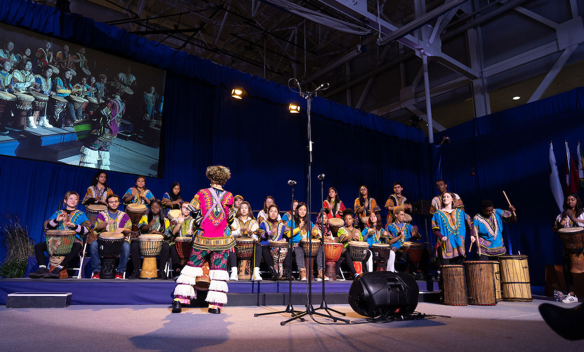Musical performances included the F&M African Drumming Ensemble …