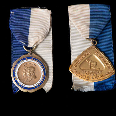 Now more than a century old, these athletic medals symbolize the early days of F&M's athletic tradition. They belonged to James Archer Smith, F&M Class of 1916. Smith, a track and field standout, excelled in the shot put and hammer throw. The medals are among more than a dozen donated to F&M by his son, James Archer Smith '47.
