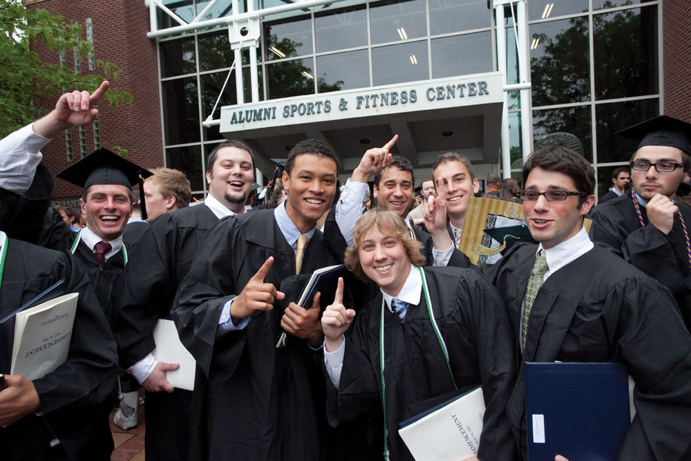 The Class of 2011 celebrates on May 14.