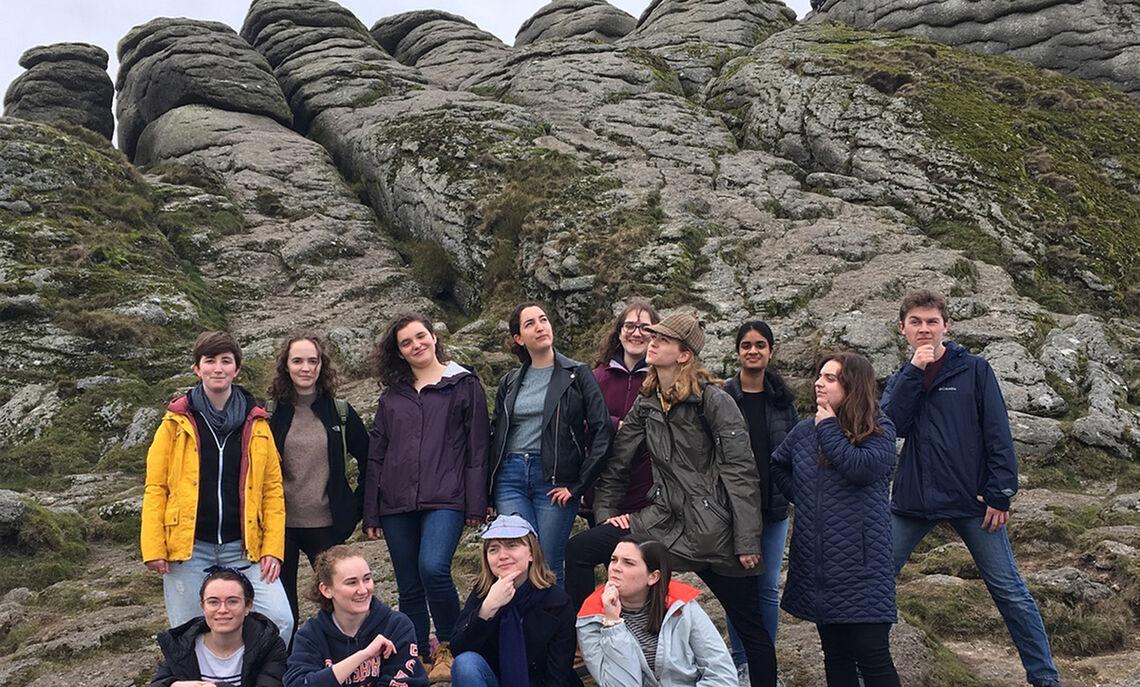 ASE students at Dartmoor