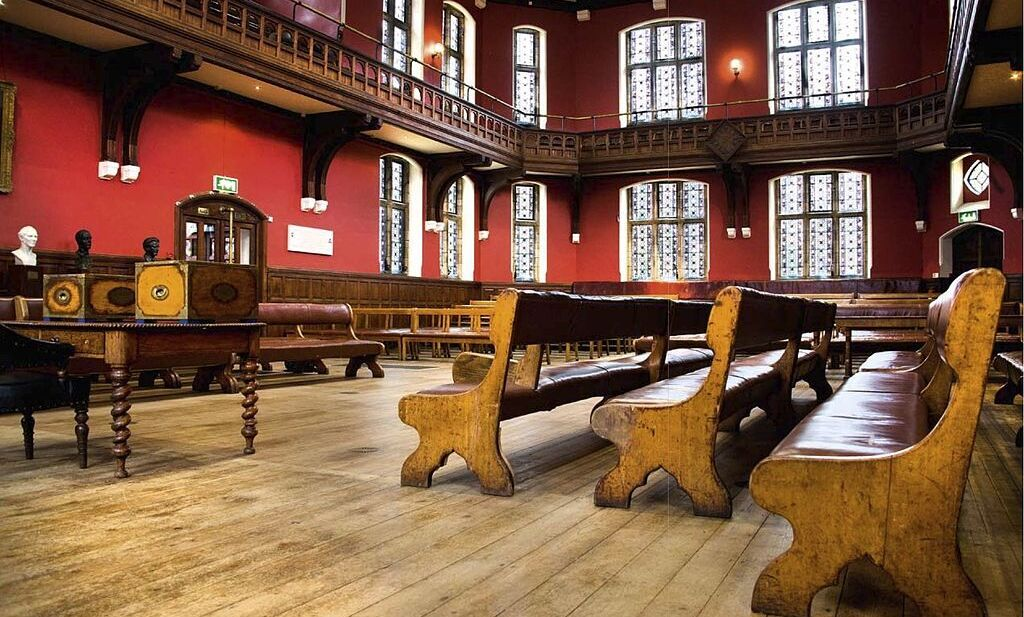 The Oxford Union Society's debate chamber, where students who present next year at the British university may visit.