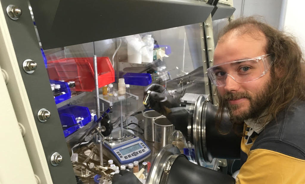 Chemistry Asst. Prof. Davide Lionetti actively researching.