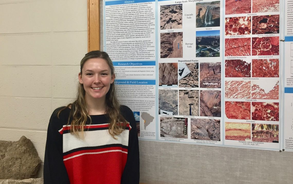 Driscoll with her winning poster.