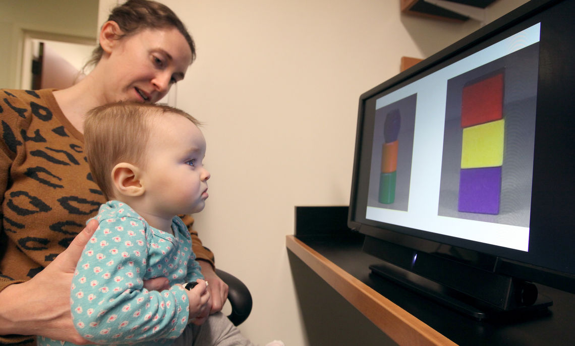 The three child development research labs rely on volunteer families from the local community.