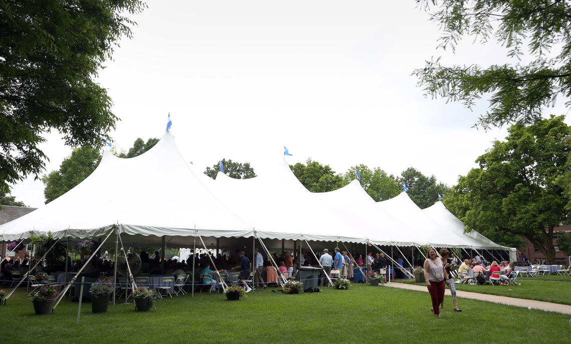 Friends, food and fun were all found under the big tent on Hartman Green.