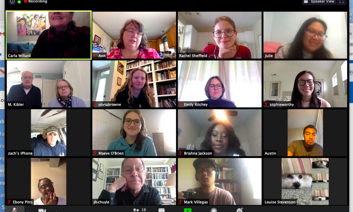 Screenshot from the AMS 2020 virtual reception.
