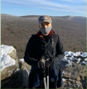 F&M senior Kelly Minard completes research at Hawk Mountain Sanctuary.