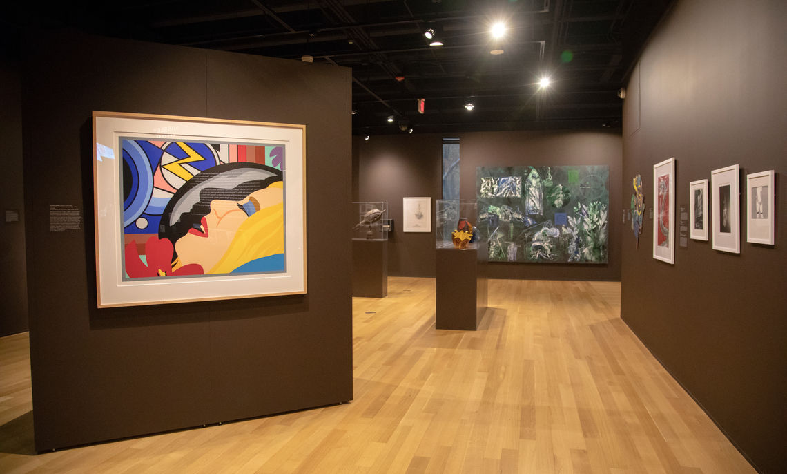 A photograph of the Nissley Gallery reinstallation, Phillips Museum of Art at Franklin & Marshall College