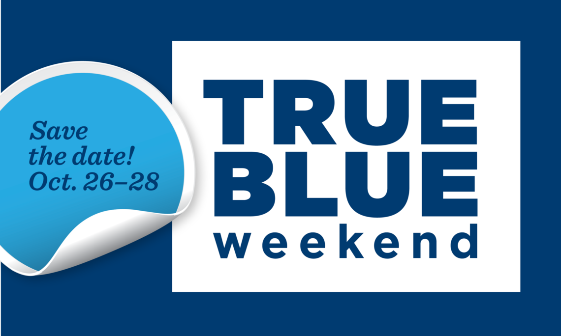 TRUE BLUE Weekend Website image