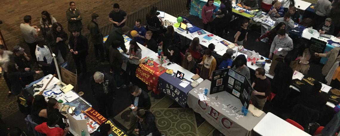 Pictures from spring '18 student involvement fair