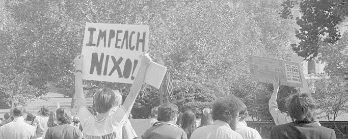 Demonstrators outside the U.S. Capitol in October 1973.