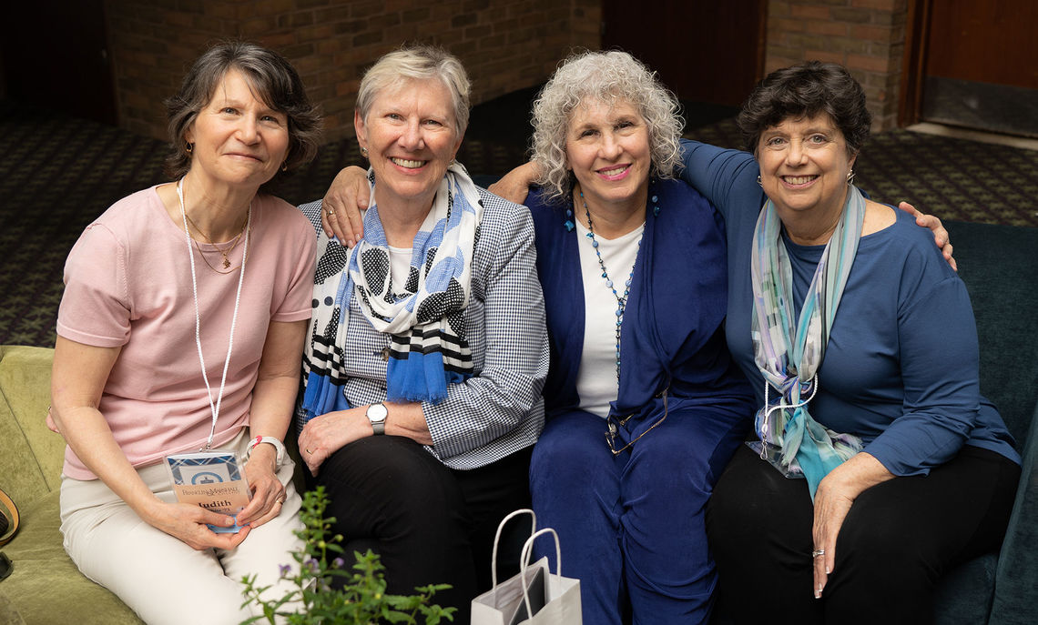 Susan L. Washburn '73, Chair of the F&M Board of Trustees, reunited with her college roommates at their 45th reunion.