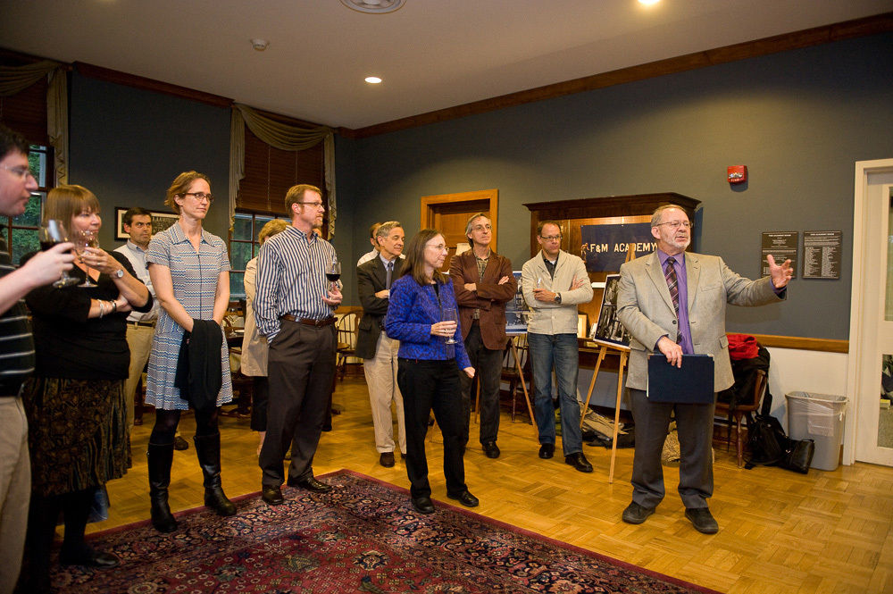 A celebration of the Faculty Center's opening last fall.