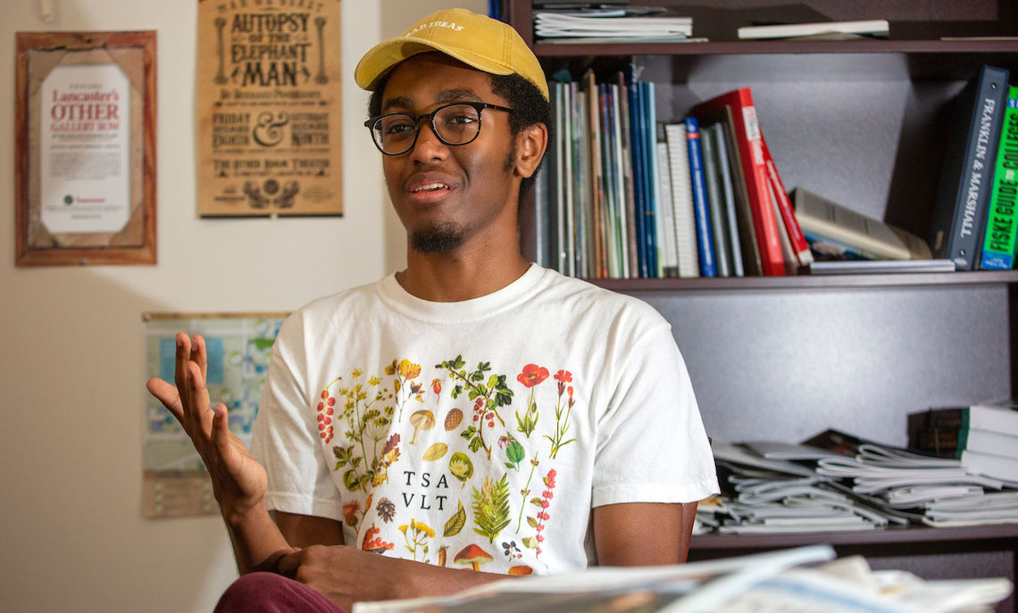 "The American Academy of Poets named F&M senior Jonny Teklit ""Most Promising Young Poet"" for his ""Black Mythology,"" in which he  eloquently captured the historic experience of being black in America."