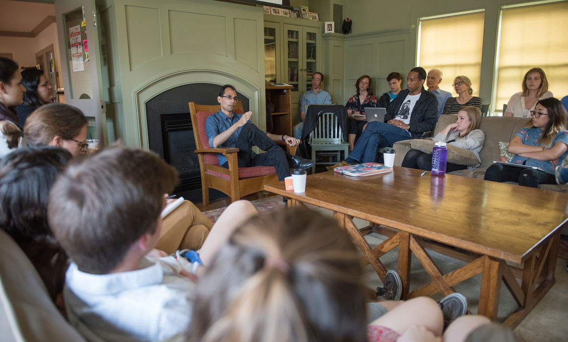 Alumnus Indra Das '08 gave a reading and hosted a craft talk during the Emerging Writers Festival in 2017.