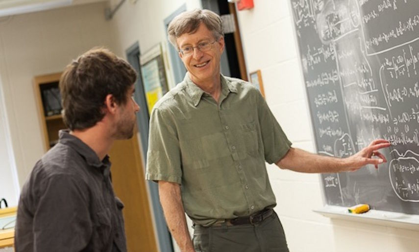 """""""It's a balance — teaching and research — and that's kind of the special nature of a place like Franklin & Marshall,"""" said Adkins, the William G. and Elizabeth R. Simeral Professor of Physics. """"The students have been an essential part of my research."""""""