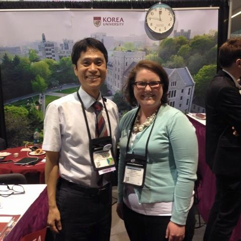 "Annika Turner '09 with Albert Wonsuk Choi at Korea University: ""He's my favorite partner to work with!"""