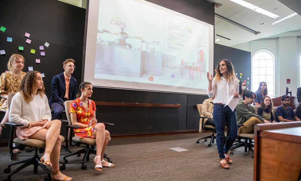 """""""The students went out to the streets of Lancaster – literally out to the streets, to empathize with its residents through interviews and observations, and define the thorny issues in our community,"""" said Maya Greenshpan, faculty leader of the CIFOW summer research program."""