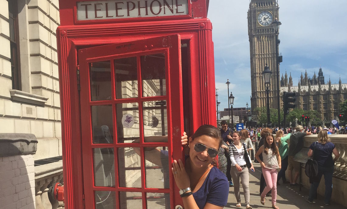 Seeing the sights of London was part of the study abroad experience for the theatre major.
