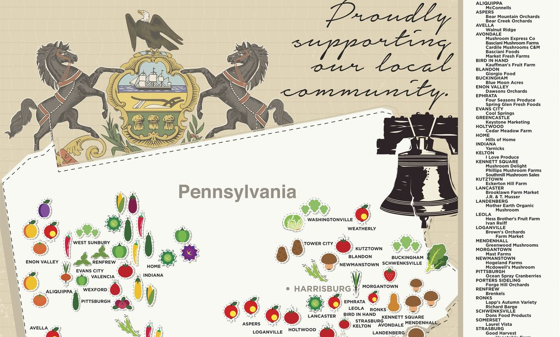 pennsylvsnia map local farm