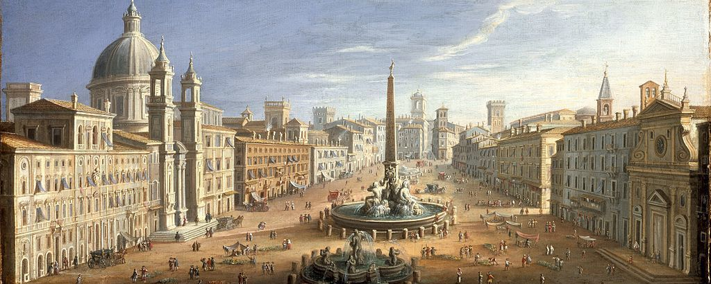 View of the Piazza Navona in Rome
