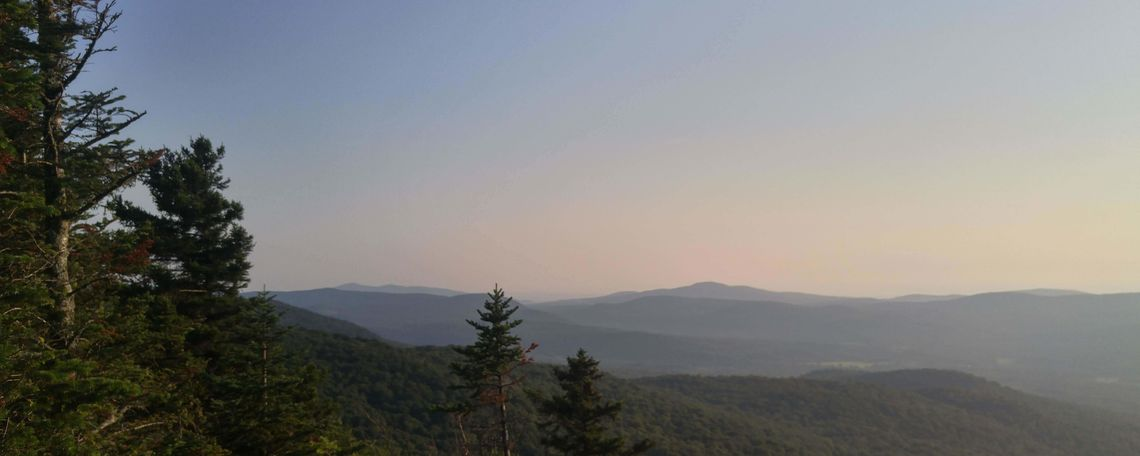 Looking west in the Green Mountains