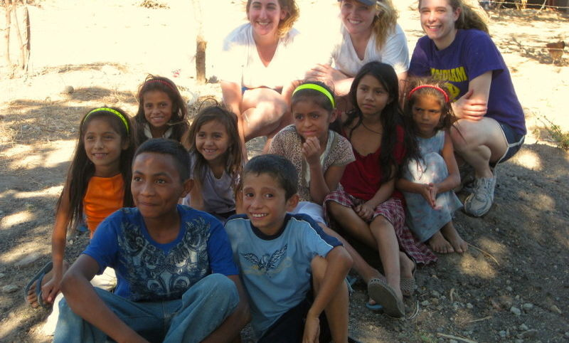 Honduras ASB student with group of children