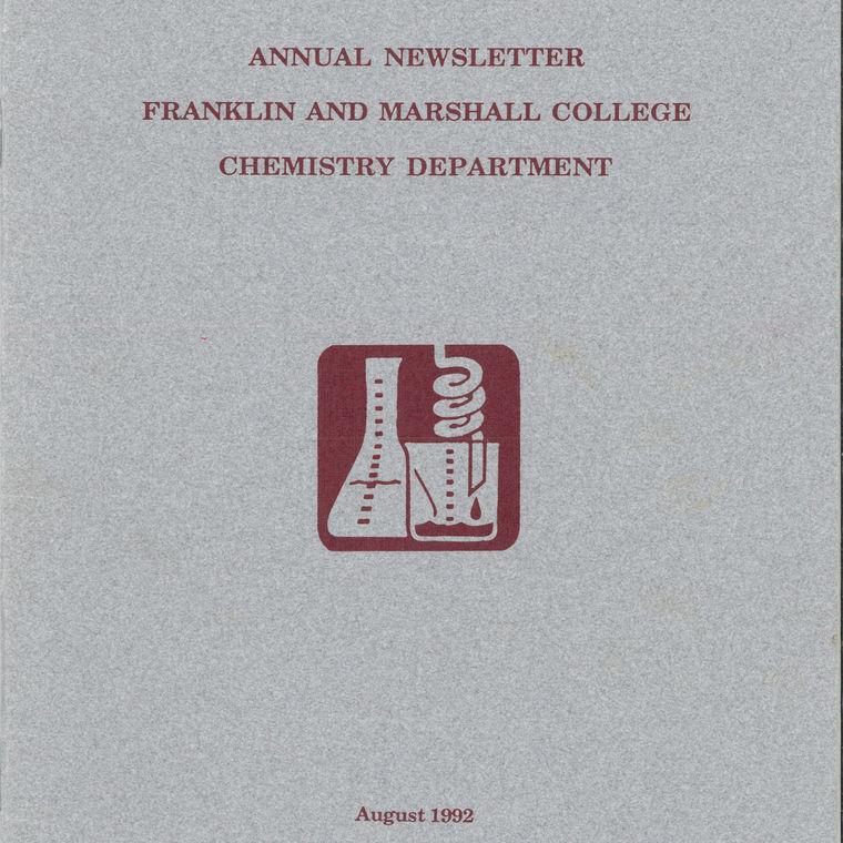1992 Chemistry Newsletter Cover