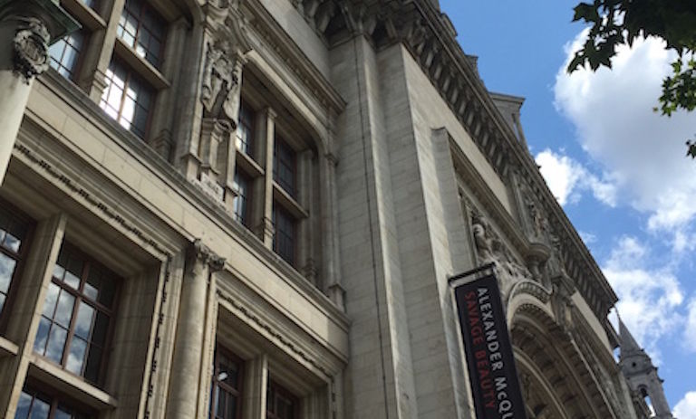 London's Victoria & Albert Museum, where Fitzgerald viewed an exhibit on theatre and performances of England.