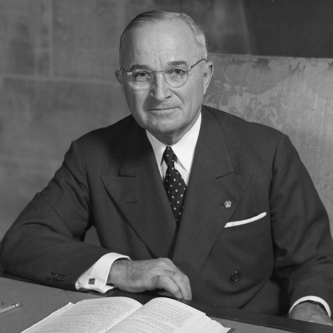 Harry S. Truman, 33rd president of the United States.