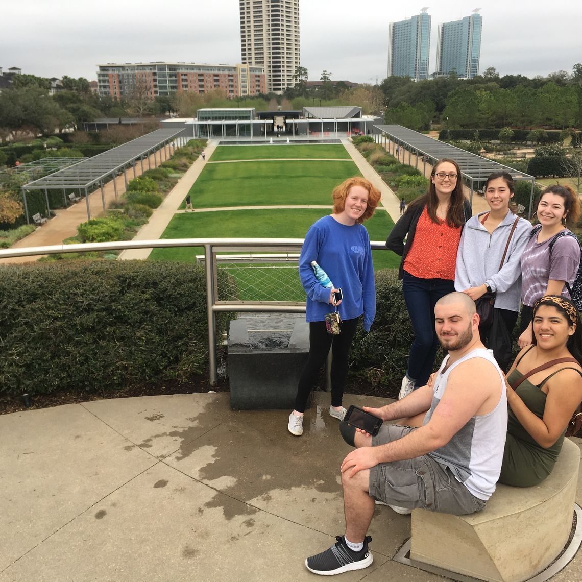 The group took time to explore the museum district of downtown Houston. What a wonderful view of the landscape from up above!