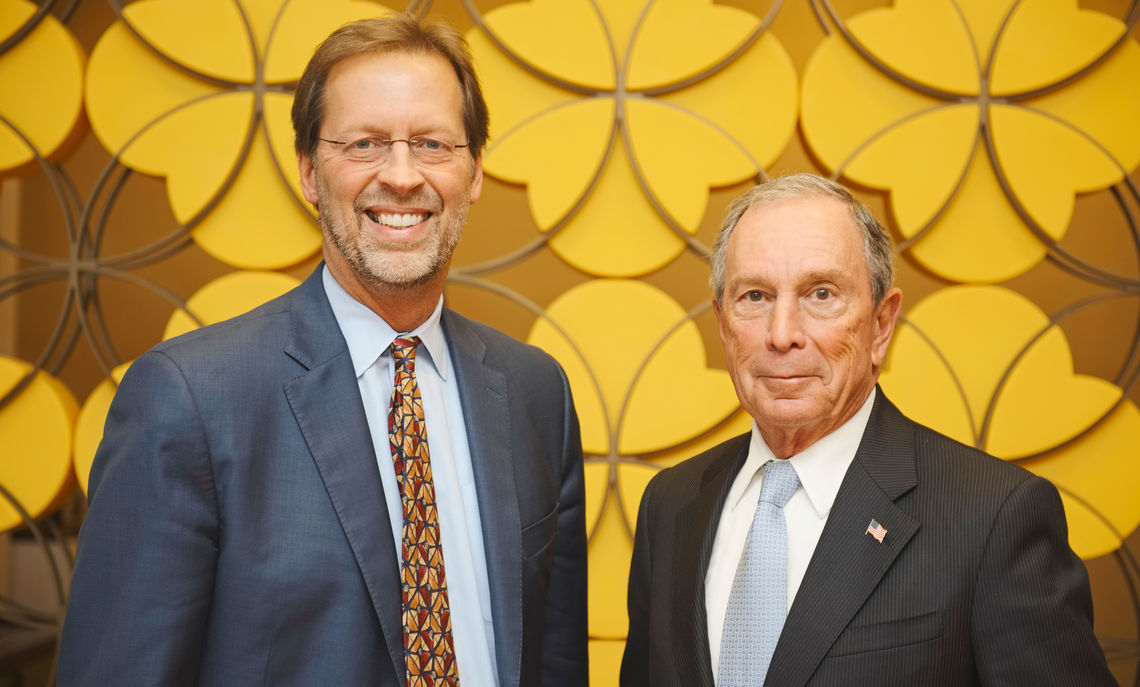 Porterfield, who helped initiate the American Talent Initiative with 30 other colleges and universities nationwide, with former New York Mayor Bloomberg, whose Bloomberg Philanthropies is providing the initial $1.7 million grant for ATI.