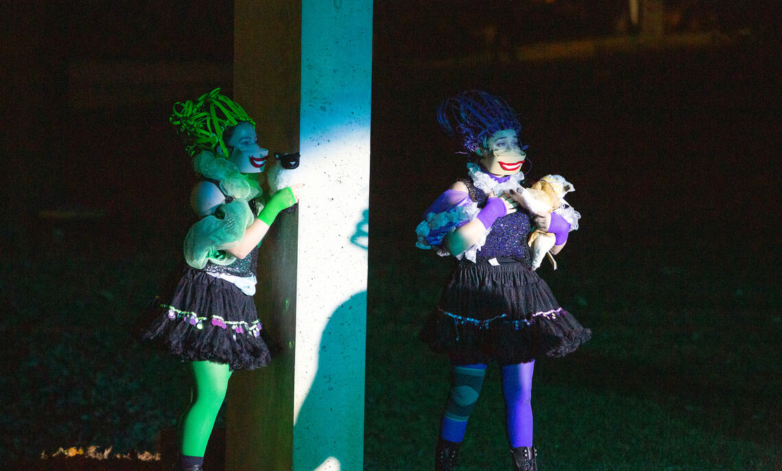"""F&M Theatre performed """"Head Over Heels,"""" a Go-Go themed musical and the first outdoor performance ever staged at the Winter Visual Arts Center."""