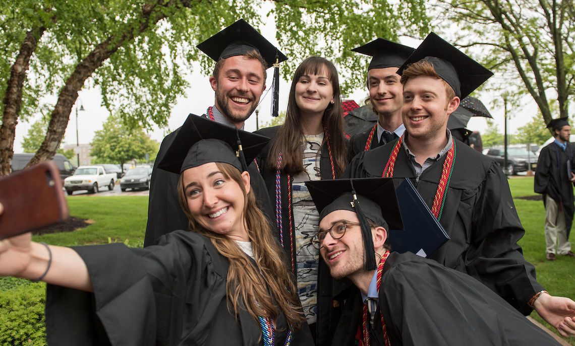 Commencement Day May 12 promises mild, sunny weather, perfect for a graduation on F&M's Hartman Green.
