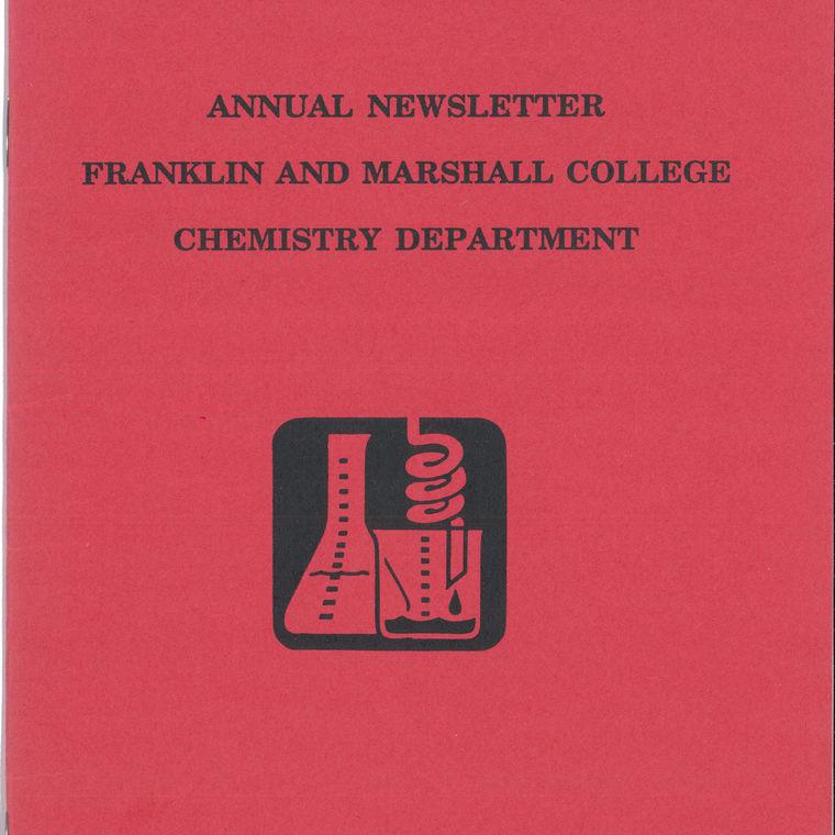1993 Chemistry Newsletter Cover