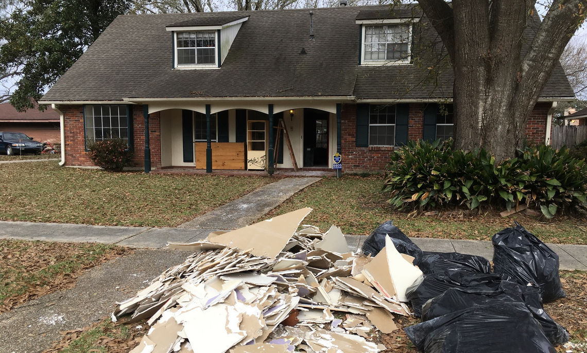 One of the three homes in the Baton Rouge area that the students worked on.
